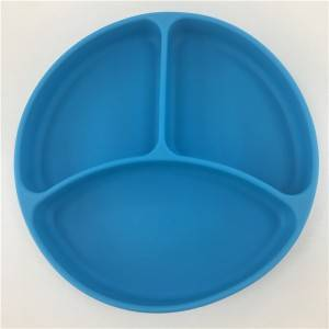 Silicone bowl with suction base
