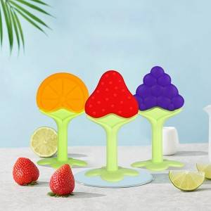 Fruit silicone teether