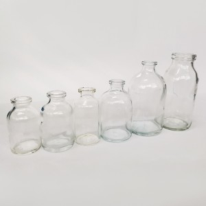 Moulded glass bottles for Infusion