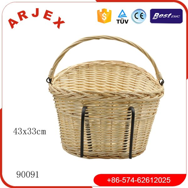 90091BICYCLE BASKET WICKER Featured Image