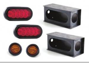 "6"" LED TRAILER TAIL LIGHT GUARD BOX KIT"