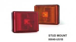RECTANGULAR MARKER CLEARANCE LIGHT stud MOUNT