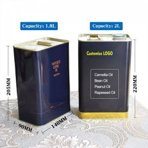 2L Edible Oil Packaging Tin Can Camellia Oil Olive Oil Seed Oil Food grade Storage Tin Can