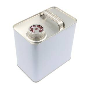 2.5L Rectangular Automobile Paint Metal Tin Can Paint Can Chemical Oil Can
