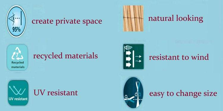 Features of artificial fence