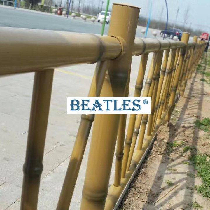Stainless steel bamboo tubing for public park fence