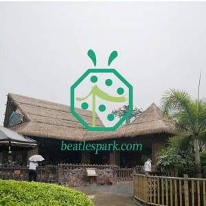 Reliable Quality Fireproof Artificial Thatch Roof for Scenic Spot