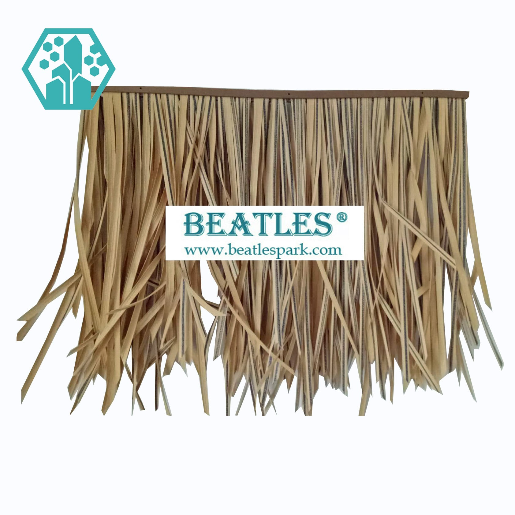 Synthetic Straw Roofing Material for Tiki Hut Roof Thatching