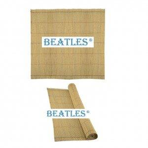 Synthetic plastic fake bamboo window roll up shades