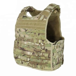 Plus US Size Camouflage Color Military Combat MOLLE Vest With Plated For Man