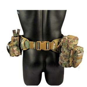 Wholesale Combat Molle Belt Cp Tactical Belt With Molle Pouch
