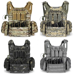 Security Tactical Vest Police Reflective Safety Duty Vest With Water Bladder