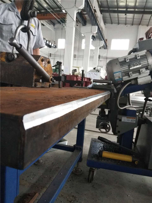 Bevel machine processing for 50mm plate at 30 degree double side bevel with 6mm root face