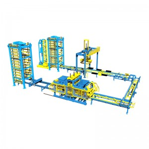 Circle Type Block Processing line