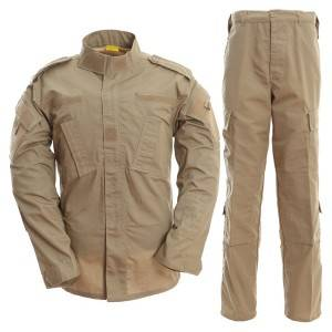 Khaki color military uniform