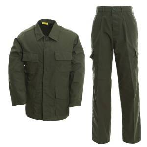 Army green uniform