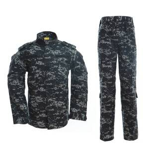 Dark blue ACU military uniform