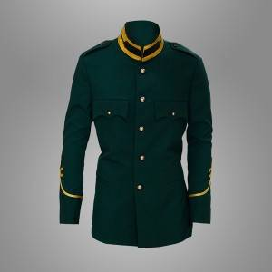 Army green ceremonial uniform