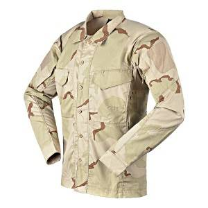 Desert camo tactical long sleeve shirt