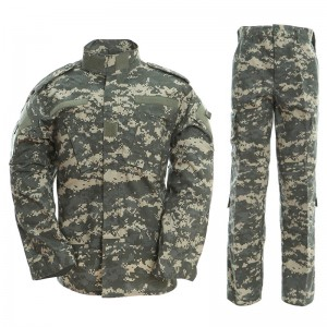 Grey ACU military tactical uniform