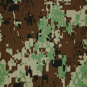 Digital camo fabric