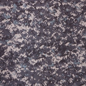 Grey digital camo fabric