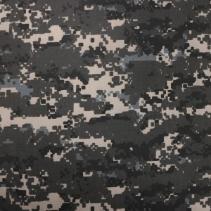Black digital camo fabric