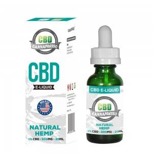 CANNAPRESSO CBD E liquid-300mg CBD 30ml vape sa lana