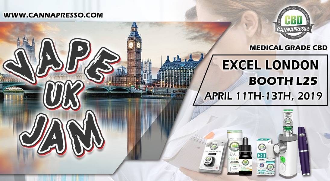 CANNAPRESSO in Vape Jam UK 2019