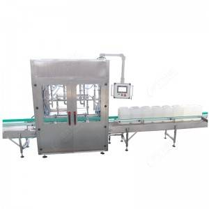 automatic jerrycans weighing and filling machine