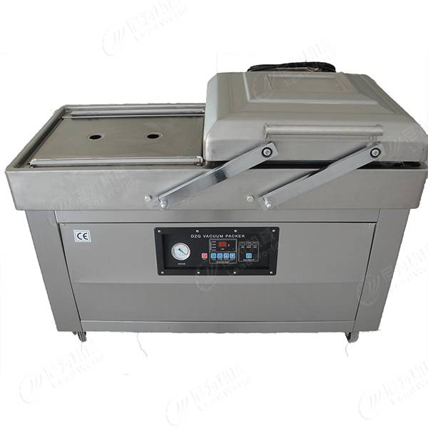 Semi-automatic duble chambers vacuum packing machine
