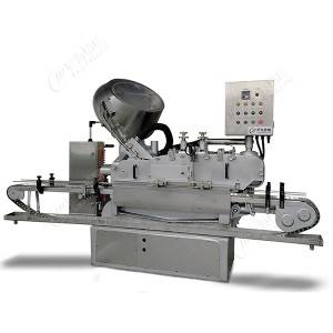 automatic high speed glass jar steam vacuum capping machine