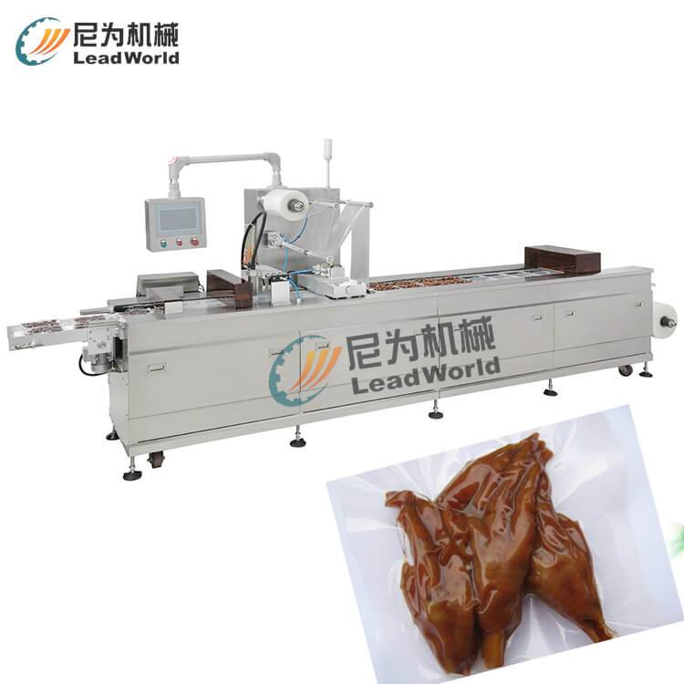 halogen taste vacuum stretch film packaging machine