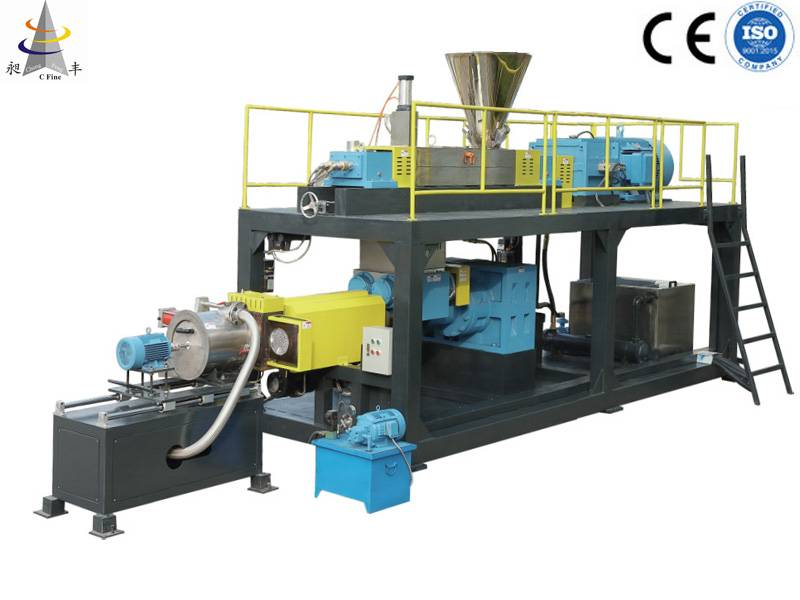 Continuous mixer processor Compounding Extruder Machine