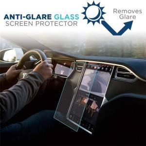 Tempered Glass Screen Protector For Tesla GPS Screen Model S Model X
