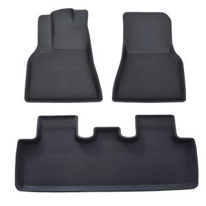 Odorless 3D Car Weather Mats Vehicle Floor Mats For Tesla Model Y