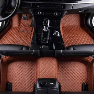 PVC Material Custom Car Floor Mats Leather Foot Mat