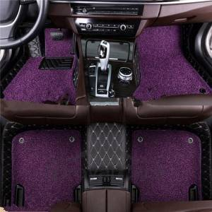 Luxury Customized Leather Diamond Car Mats For Women