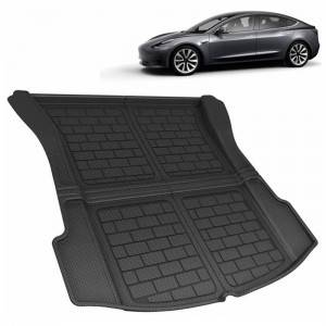 Anti Slip Waterproof Luxury Boot Mat 3D Car Trunk Mat For Tesla 3