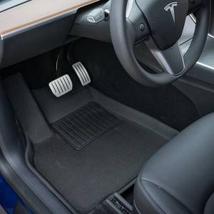 All weather Tesla Model Y auto custom universal car mats for women