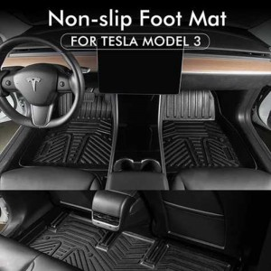 Factory Unique Waterproof Diamond Car Mats For Women For Tesla Model 3