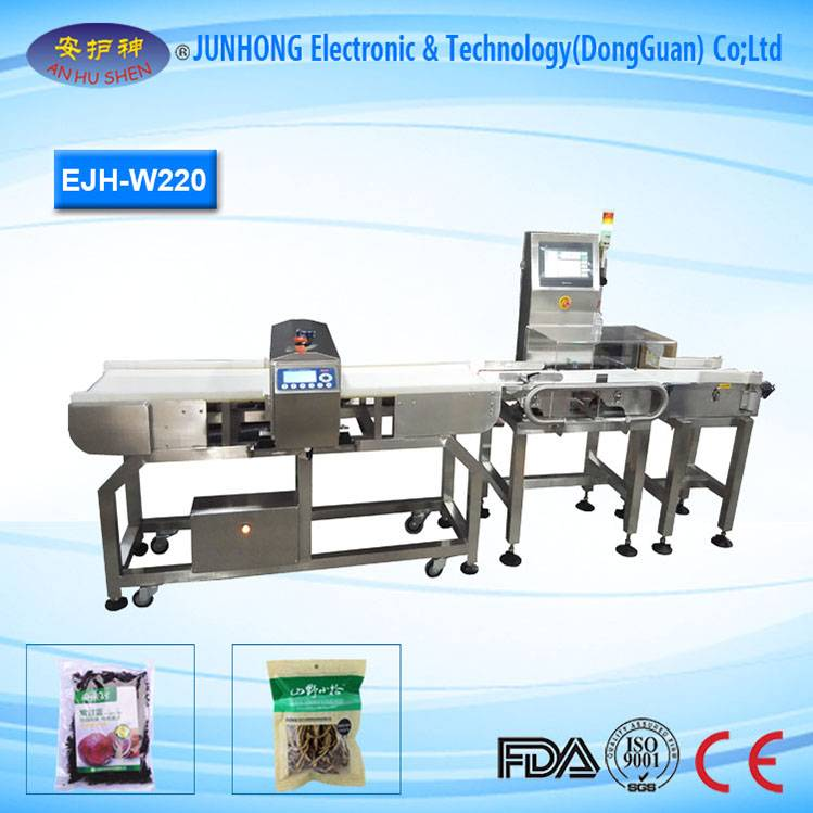 Metal Detector Check Weigher maka Production Line
