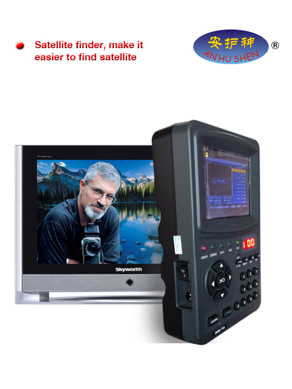 Handheld Multifunktionell Satellite Finder & Monitor (LED)