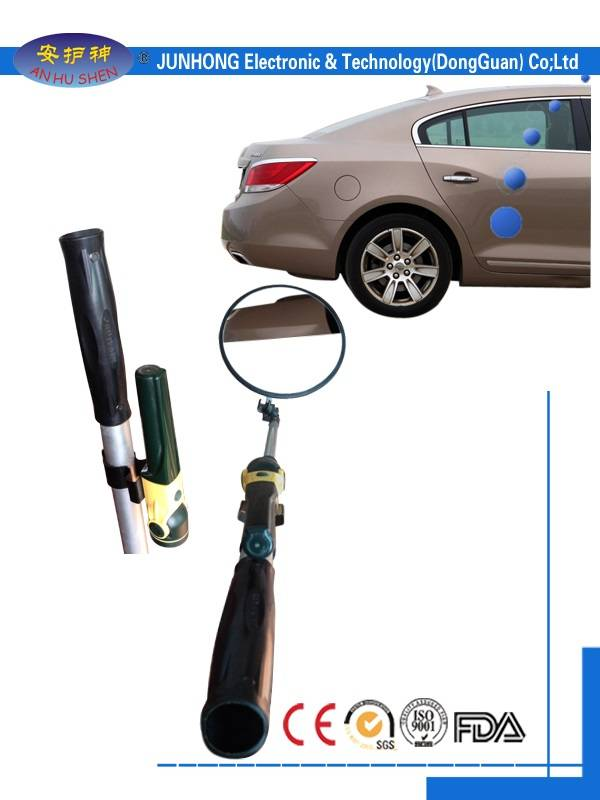 Portable car bottom inspection mirror