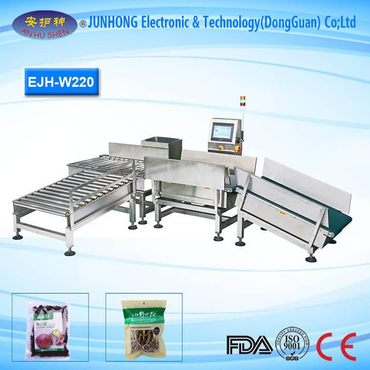 Weighing Scales Accuracy 0.5g Checkweigher in Packing Line