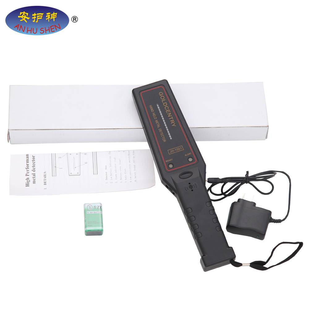 JH-1001 High Sensitivity Hand Held Metal Detector with LED signal light