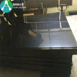 Mataas na pagtakpan Sufrace moldable Manipis Flexible Black Plastic Sheet PVC Film