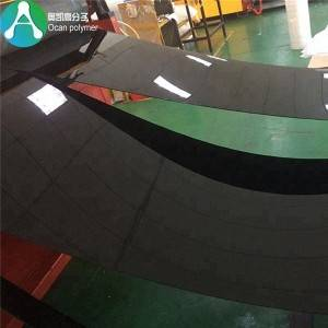 1 mm tykt rigid plast pvc ark sort