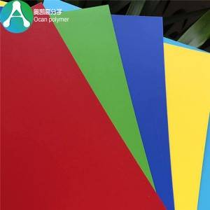 0.5mm Lancip Hard Colorful PVC kaku Sheet Plastic kanggo Decoration