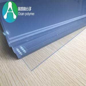 fulla de PVC transparent